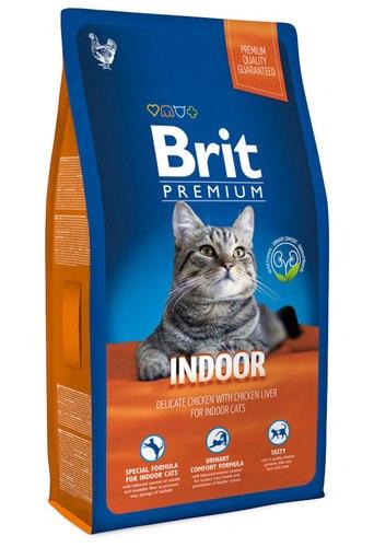 Сухой корм Brit 8кг Premium Cat Indoor