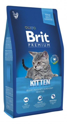 Сухой корм Brit 8кг Premium Cat Kitten