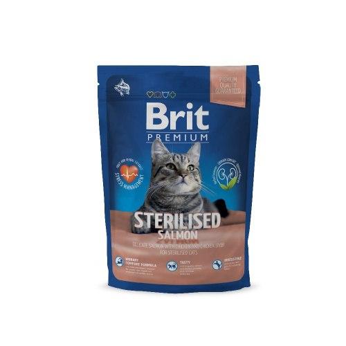 Сухой корм Brit 1,5кг Premium Cat Sterilised SALMON