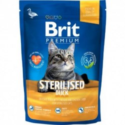 Сухой корм Brit 1,5кг Premium Cat Sterilised Duck