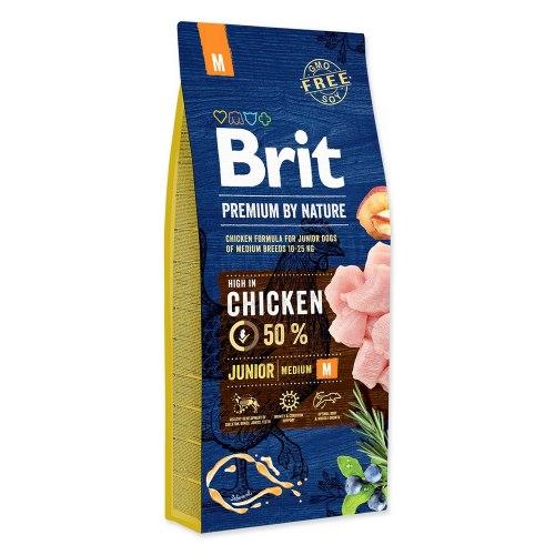 Сухой корм Brit 15кг Junior M Premium by Nature