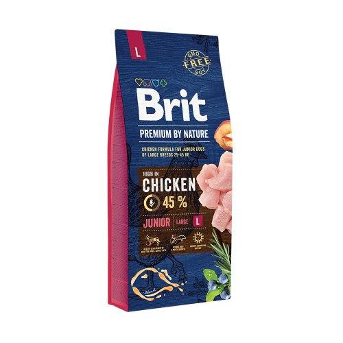 Сухой корм Brit 15кг Junior L Premium by Nature