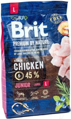 Сухой корм Brit 3кг Junior L Premium by Nature