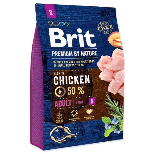 Сухой корм Brit 3кг Adult S Premium by Nature