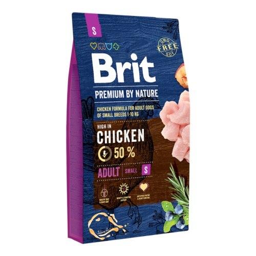 Сухой корм Brit 8кг Adult S Premium by Nature