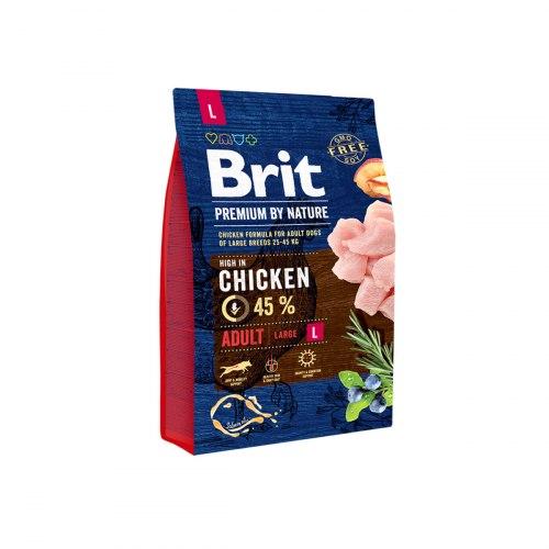 Сухой корм Brit 3кг Adult L Premium by Nature