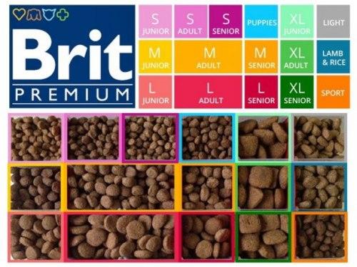 Сухой корм Brit 15кг Adult L Premium by Nature