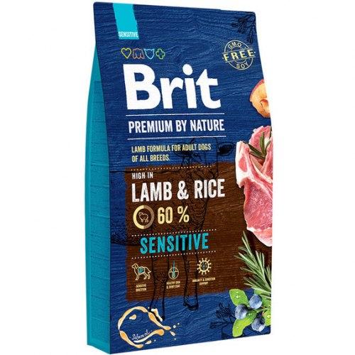 Сухой корм Brit 8кг Sensitive Lamb Premium By Nature
