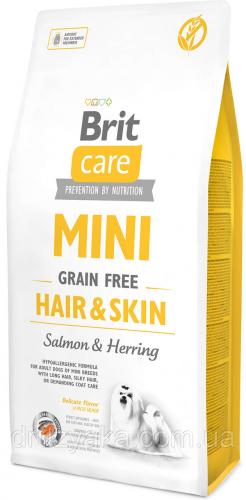 Сухой корм Brit 7кг Care MINI GF Hair & Skin