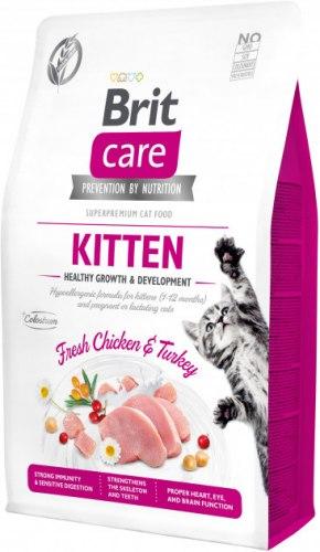 Сухой корм Brit 2кг Care Cat GF Kitten Healthy Growth & Development