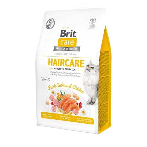 Сухой корм Brit 2кг Care Cat GF Haircare Healthy & Shiny Coat