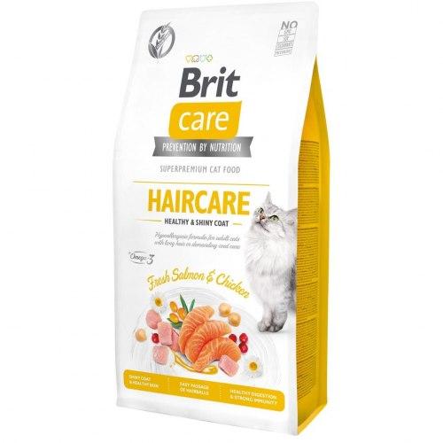 Сухой корм Brit 7кг Care Cat GF Haircare Healthy & Shiny Coat