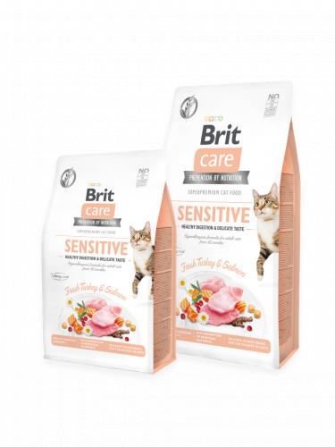 Сухой корм Brit 2кг Care Cat GF Sensitive Healthy Digestion & Delicate Taste