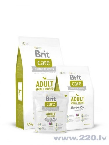 Сухой корм Brit 1кг Care Adult Small Breed