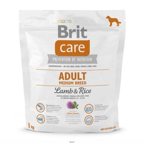 Сухой корм Brit 1кг Care Adult Medium Breed