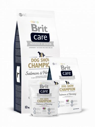Сухой корм Brit 12кг Care Dog Show Champion + лакомство Brit в подарок