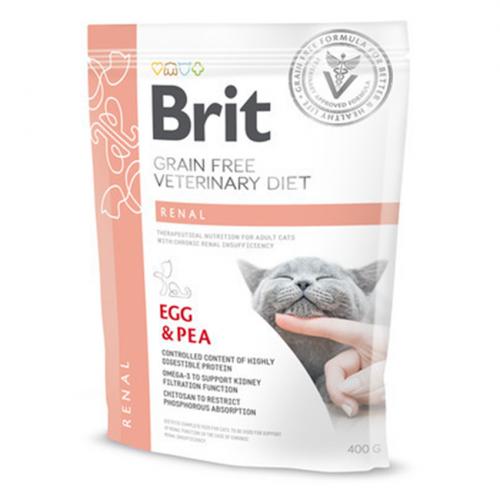 Сухой корм Brit 400г Cat VDC Renal Egg & Pea