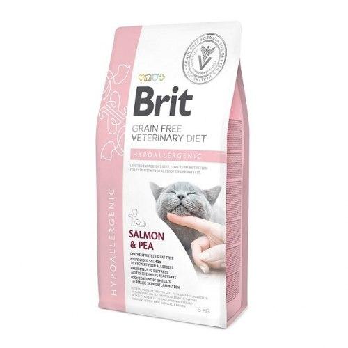 Сухой корм Brit 5 кг Cat VDC Hypoallergenic Salmon & Pea