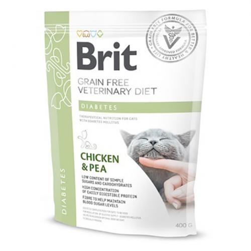 Сухой корм Brit 400г Cat VDC Diabetes Chicken & Pea
