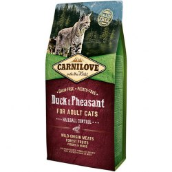 Сухой корм Carnilove 6кг Duck & Pheasant for Adult Cats–Hairball Control