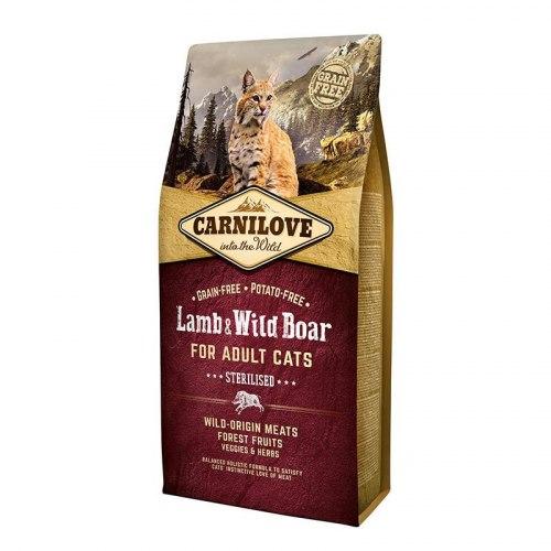 Сухой корм Carnilove 6кг Lamb & Wild Boar for Adult Cats–Sterilised