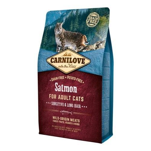 Сухой корм Carnilove 400г Salmon for Adult Cats – Sensitive & Long Hair