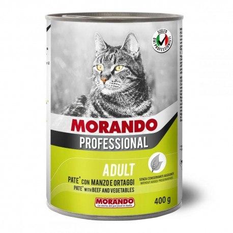 Паштет Morando Proffessional для кошек говядина/овощи , 400г