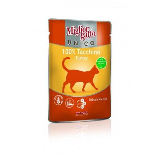 Консерва Unico для кошек индейка, 85г