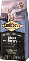 Сухой корм Carnilove 1,5 кг Salmon & Turkey for Puppies