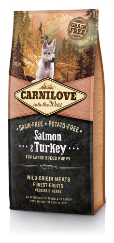 Сухой корм Carnilove 1,5кг Salmon &Turkey for Large Breed Puppy