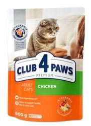 Сухой корм Club 4 Paws для взрослых кошек с курицей, НА РАЗВЕС 100г