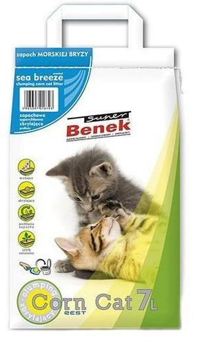 Наполнитель S.Benek 7 л Corn Cat Morski Breeze