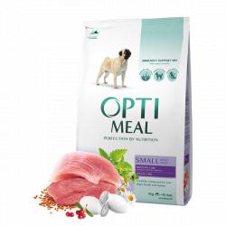 Сухой корм Optimeal для собак малых пород-утка, 12 кг