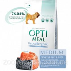 Сухой корм Optimeal для взрослых собак средних пород (гипоалл.)- лосось, 12 кг
