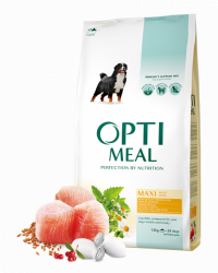 Сухой корм Optimeal для взрослых собак крупных пород - курица, 12 кг