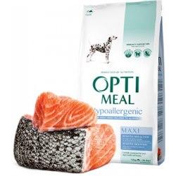 Сухой корм Optimeal для взрослых собак крупных пород (гиппоаллергенный) - лосось, 12 кг