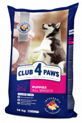 Сухой корм Club 4 Paws для щенков всех пород с высоким содержанием курицы, 14 кг