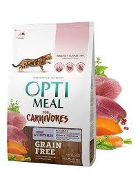 Сухой корм Optimeal Беззерновой для кошек - утка и овощи, 4 кг