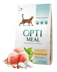 Сухой корм Optimeal для взрослых кошек - курица, 4 кг
