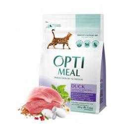 Сухой корм Optimeal для кошек с эффектом выведения шерсти - утка, 10 кг