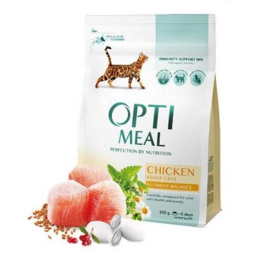 Сухой корм Optimeal для взрослых кошек - курица, 10 кг