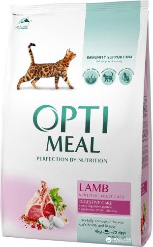 Сухой корм Optimeal для кошек с чувствительным пищеварением - ягненок, 10 кг