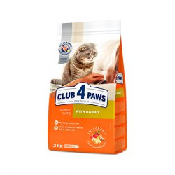 Сухой корм Club 4 Paws Club 4 Paws 2кг Премиум для взрослых кошек с кроликом