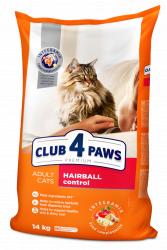 Сухой корм Club 4 Paws для взрослых кошек с эффектом выведения шерсти, 5 кг