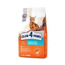 Сухой корм Club 4 Paws для взрослых кошек с чувствительным пищеварением, 5 кг
