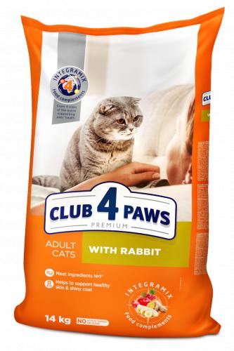 Сухой корм Club 4 Paws для взрослых кошек с кроликом, 14 кг