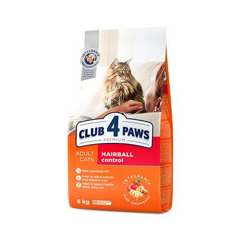 Сухой корм Club 4 Paws для взрослых кошек с эффектом выведения шерсти, 14 кг