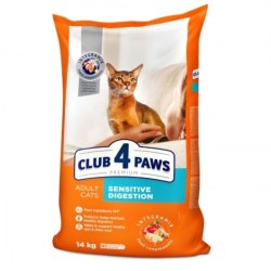 Сухой корм Club 4 Paws для взрослых кошек с чувствительным пищеварением, 14 кг