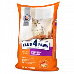 Сухой корм Club 4 Paws для взрослых кошек. Поддержка здоровья мочевыводящей системы 14 кг