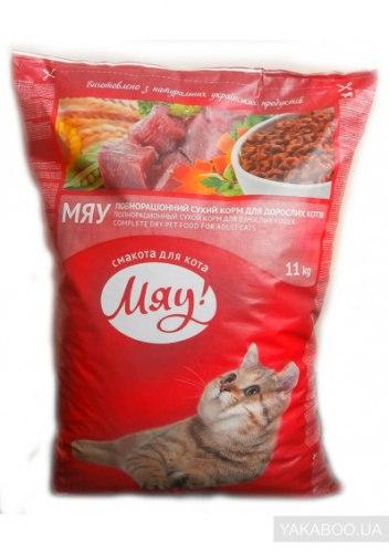 Сухой корм Мяу для кошек мясной 11 кг